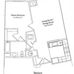 1 Bedroom 703 Sq Ft