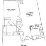 One Bedroom 703 Sq Ft