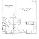 One Bedroom 804 Sq Ft