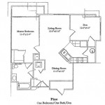 One Bedroom 883 Sq Ft
