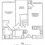 Two Bedroom 1031 Sq Ft (Lily)