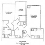 Two Bedroom 1047 Sq Ft