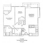 Two Bedroom 924 Sq Ft