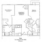 Two Bedroom 945 Sq Ft