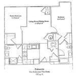 Two Bedroom 959 Sq Ft