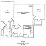 Two Bedroom 988 Sq Ft