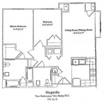 Two Bedroom 992 Sq Ft
