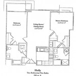 Two Bedroom 998 Sq Ft