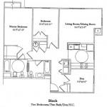 Two Bedroom w/Den 1136 Sq Ft