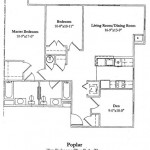 2 Bedroom w/Den 1146 Sq Ft $ Call For Pricing
