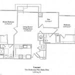 Two Bedroom w/Den 1214 Sq Ft