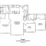 Two Bedroom w/Den 1256 Sq Ft